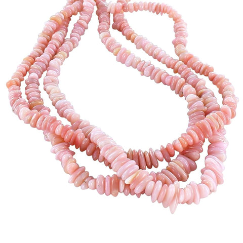 "Pink PERUVIAN OPAL Beads Center Drilled 16"" - New World Gems"