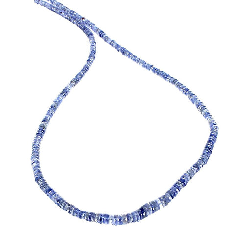 "IOLITE BEADS Faceted Graduated Buttons 3-6mm 18"" - New World Gems - 1"