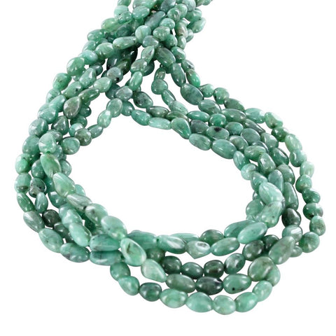 EMERALD BEADS POTATO SHAPE 7-9mm - New World Gems