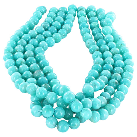 AMAZONITE BEADS ROUND 10mm - New World Gems
