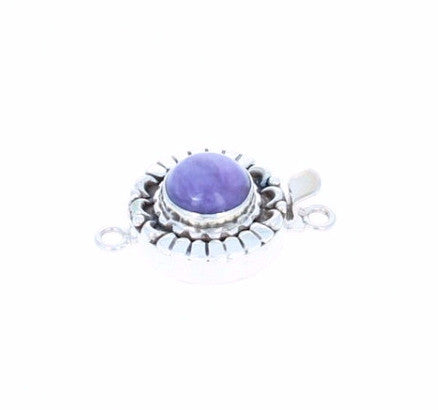 Russian CHAROITE CLASP Round 10mm Moon Petal Design