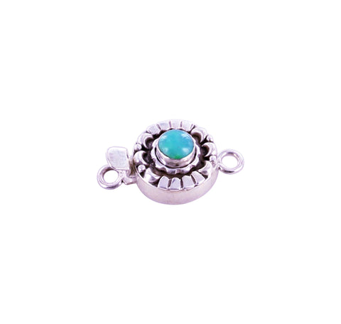 GEM SILICA Clasp Sterling Moon Petal Design 6mm Round - New World Gems