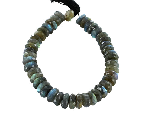 LABRADORITE BEADS Faceted Rondelles 14mm - New World Gems - 1