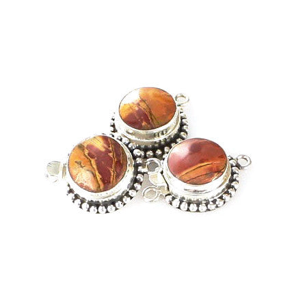 Red Creek Jasper Clasp 15mm Round - New World Gems
