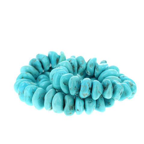 KINGMAN TURQUOISE BEADS Rounded Nuggets Sky Blue