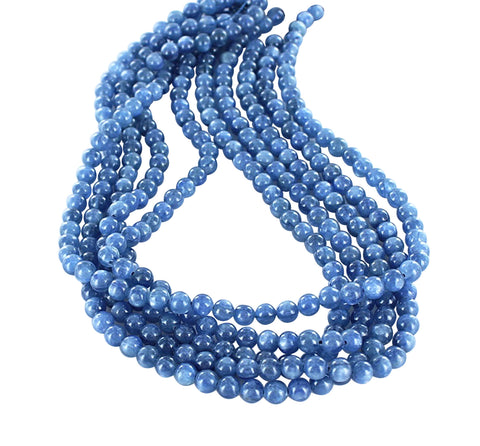 "KYANITE ROUND BEADS 6mm 16"" - New World Gems - 1"