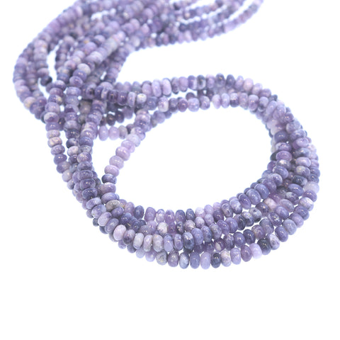 Lavender Mexican Opal Beads Rondelles 5-6mm 18""
