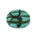 ANTIQUE TIBETAN CARVED TURQUOISE MELON BEAD - New World Gems
