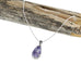"Lavender Mexican Opal Teardrop Necklace 16"" Sterling - New World Gems - 1"