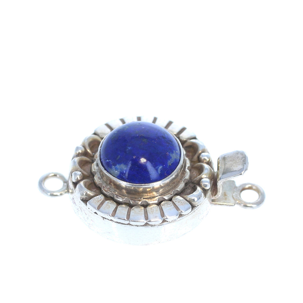 LAPIS CLASP Sterling Moon Petal Design 12mm Round