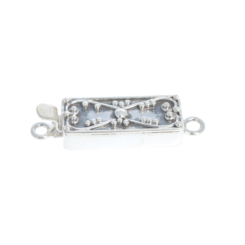 Bali Style Sterling Silver Clasp Handmade Without Gemstone