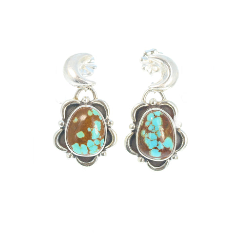 Many Moons TURQUOISE TEARDROP EARRINGS #8 Mine