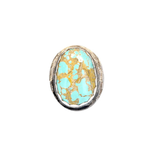 LARGE TURQUOISE Ring #8 Mine Oval Shape Southwest