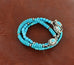 Sleeping Beauty Turquoise Bracelet Semi Round Beads - New World Gems - 2