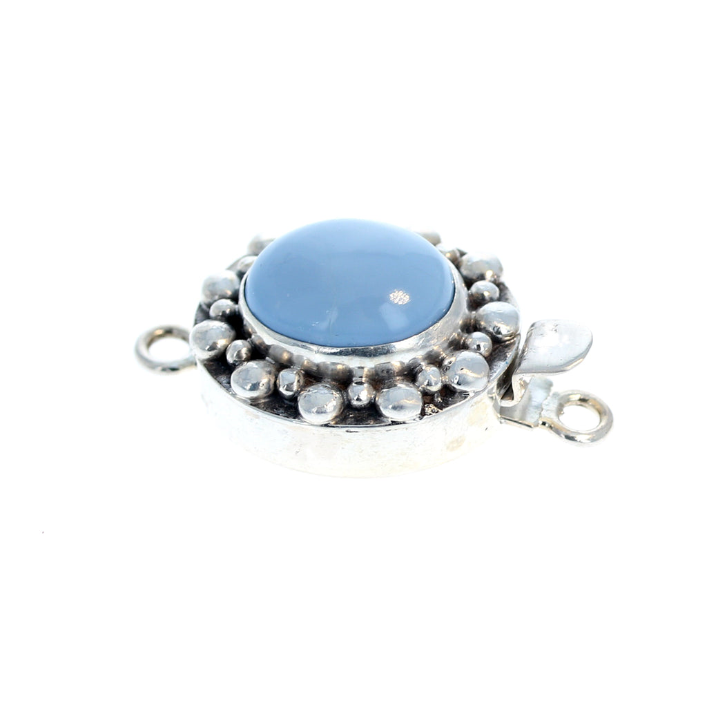 Owyhee American Blue Opal Clasp Ball Design 14.5x12mm