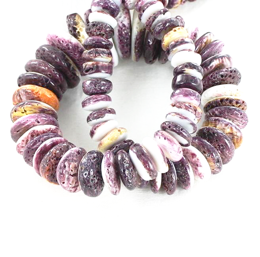 "RARE PURPLE SPINY OYSTER BEADS 13-25mm 16"" - New World Gems - 2"