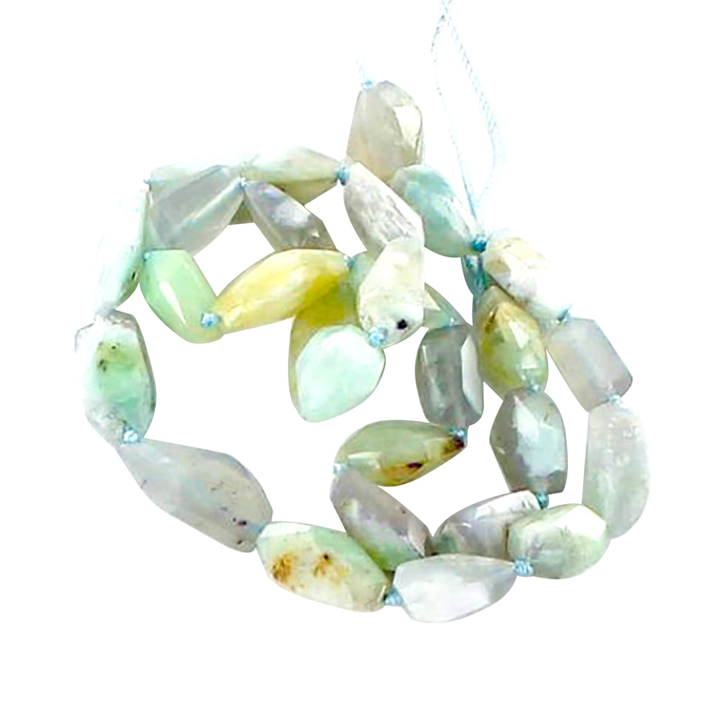 FACETED PERUVIAN OPAL FREE FORM BEADS
