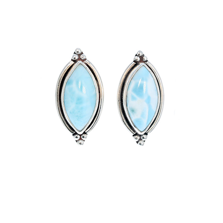 blue spinel larimar sapphire freshwater earrings pearl collection zen marahlago with white