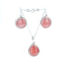RHODOCHROSITE EARRINGS and PENDANT Set Sterling
