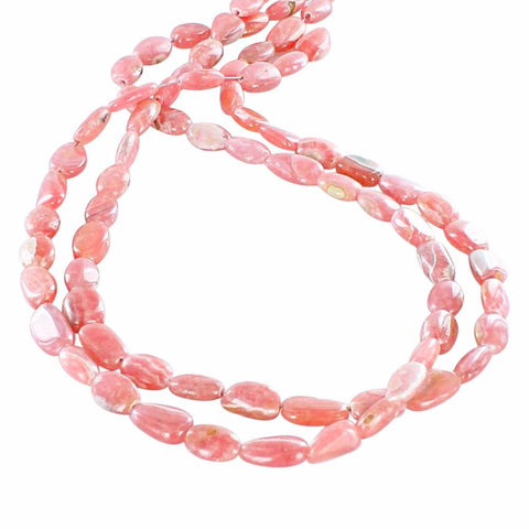 "ARGENTINA RHODOCHROSITE FREE FORM BEADS 19"" STRAND - New World Gems"