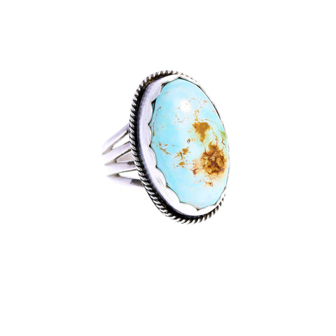 Large DRY CREEK TURQUOISE Sterling Silver Ring Size 7