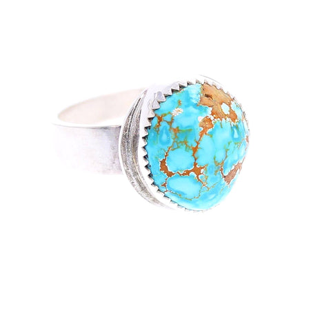 TURQUOISE #8 Mine AAA Sterling Silver Ring Size 6