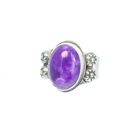 SUGILITE Ring Oval 16x12mm Sterling Silver Size 6 Deep Magenta Purple