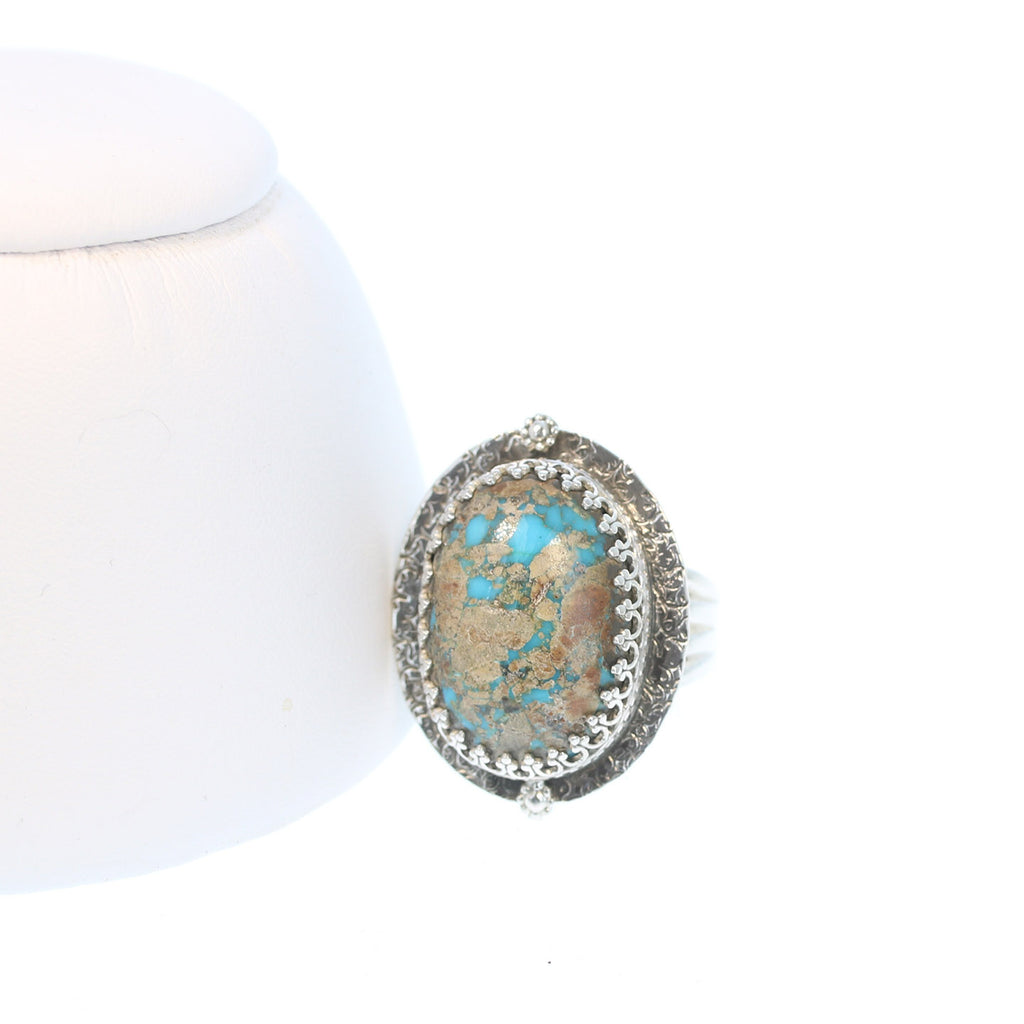 Sky Blue ARMENIAN TURQUOISE Ring Sterling Size 8