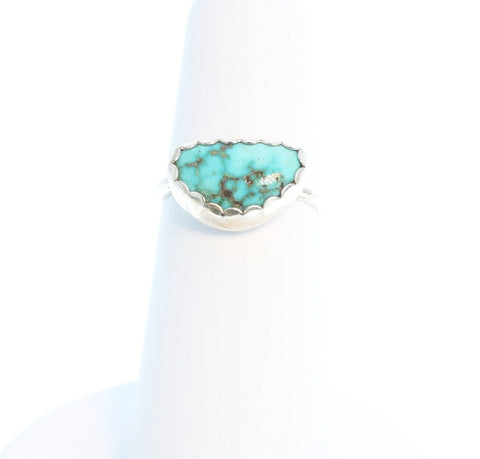 BLUE MOON TURQUOISE Sterling Ring Size 6