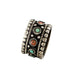 Antique Tibetan Coral and Turquoise Sterling Centerpiece Bead #1 - New World Gems