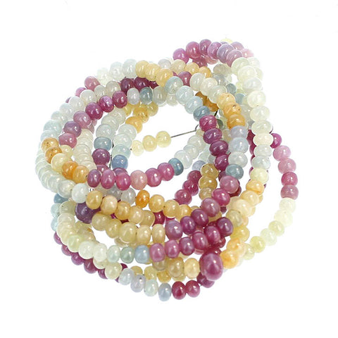 MULTI COLOR SAPPHIRE Beads 5.5mm Rondelles 18""