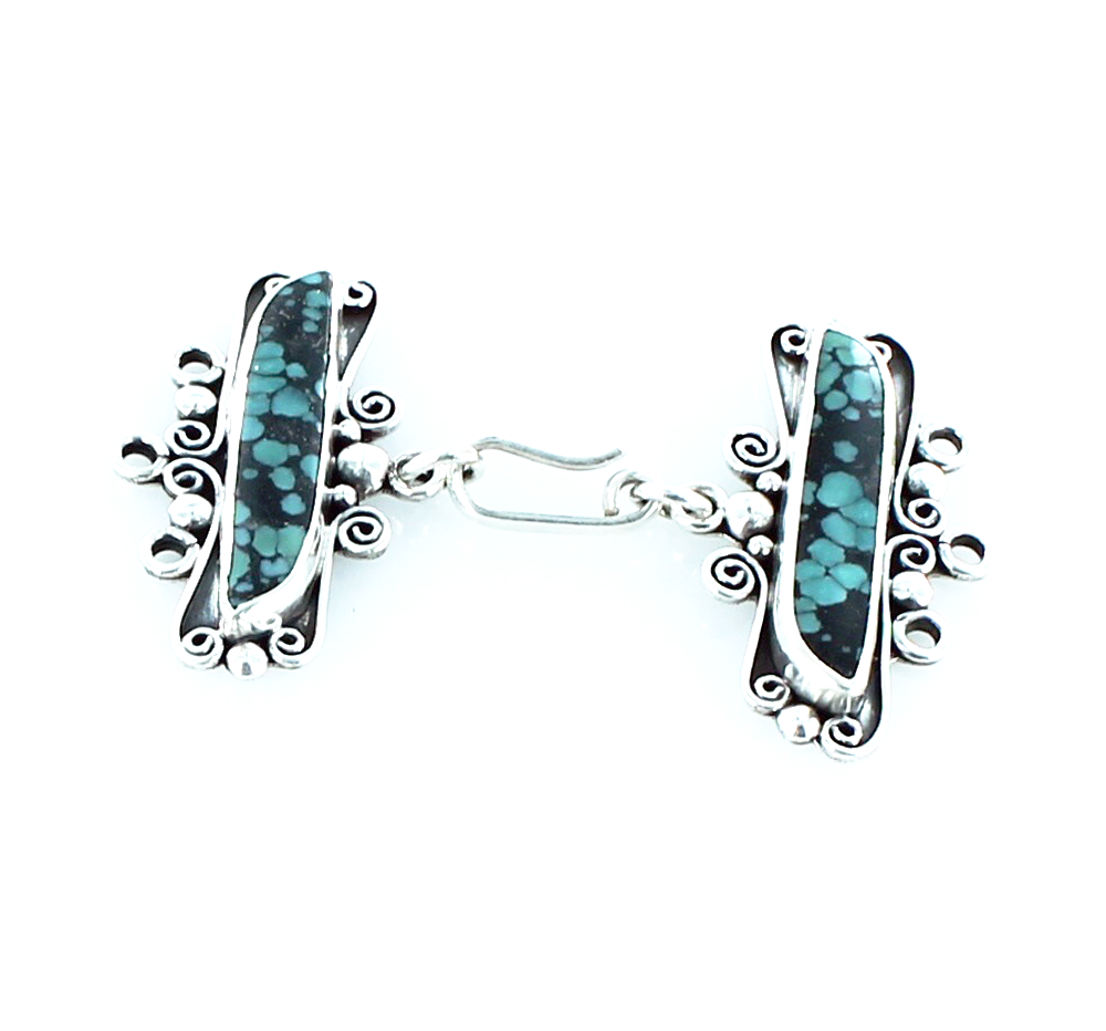 CHINESE TURQUOISE 3 STRAND CLASP WIRE DESIGN - New World Gems