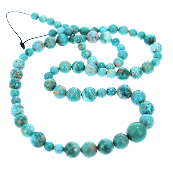 FOX MINE TURQUOISE BEADS Round 5-10mm Light Teal