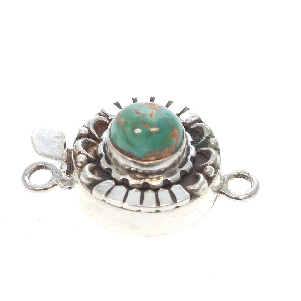 ROYSTON TURQUOISE CLASP Green Round 8mm Moon Design