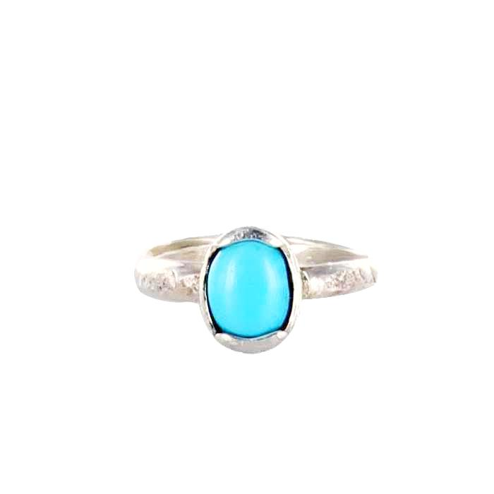 RING Sleeping Beauty Turquoise Oval Size 6 - New World Gems - 1
