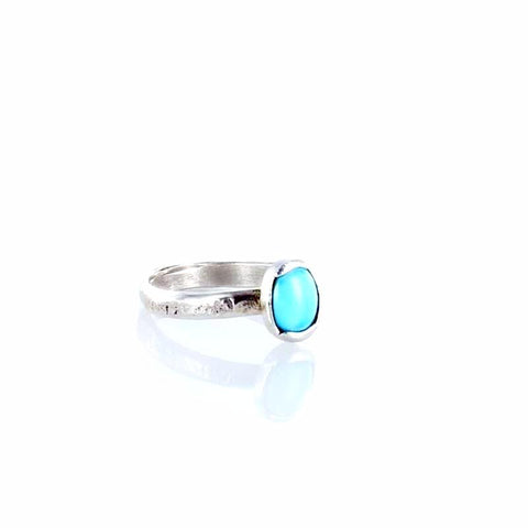 RING Sleeping Beauty Turquoise Oval Size 6 - New World Gems - 2
