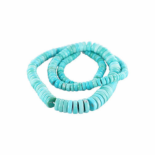 SLEEPING BEAUTY TURQUOISE Beads Button 5-9.5mm #2 - New World Gems - 2