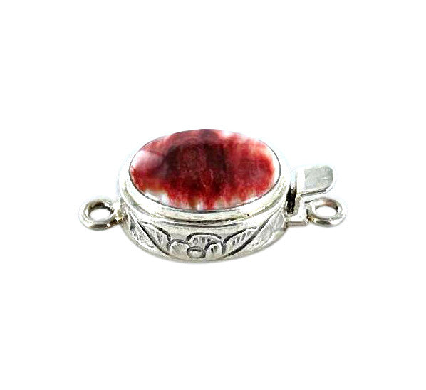 SPINY OYSTER CLASP Red Oval Large 17x12mm - New World Gems