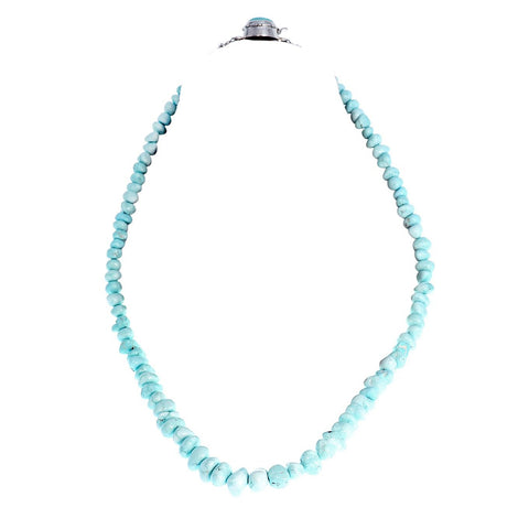 WHITE CREEK Turquoise Beads Necklace 6-15mm 23""