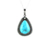 KINGMAN TURQUOISE PENDANT Southwest Large Teardrop - New World Gems - 1