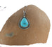 KINGMAN TURQUOISE PENDANT Southwest Large Teardrop - New World Gems - 2