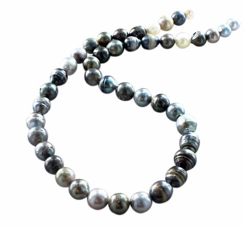 TAHITIAN PEARLS Strand Beads 7.5 to 10mm - New World Gems - 1