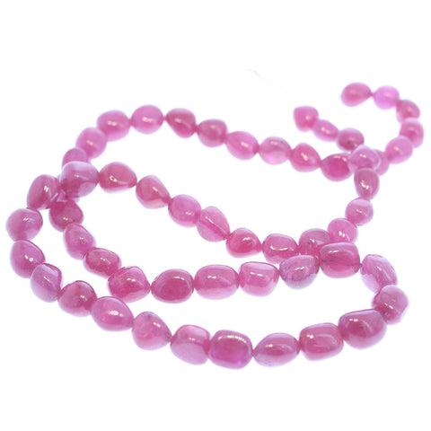RUBY BEADS Genuine Transparent Potato Shape 8-9mm 16""