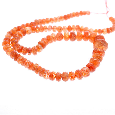 SUNSTONE BEADS FACETED Rondelles 5-14mm 16""