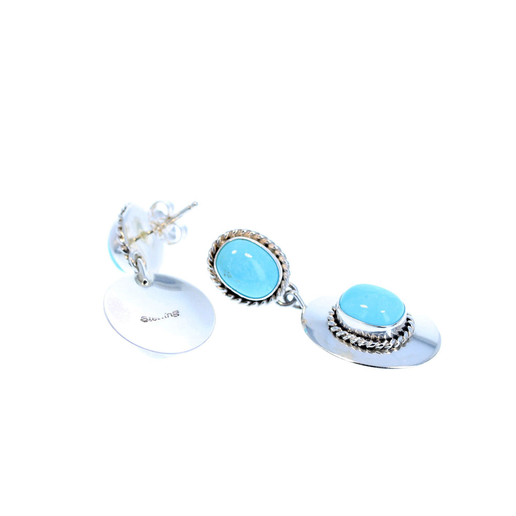 SLEEPING BEAUTY TURQUOISE 2 Stone Earrings Southwest Style