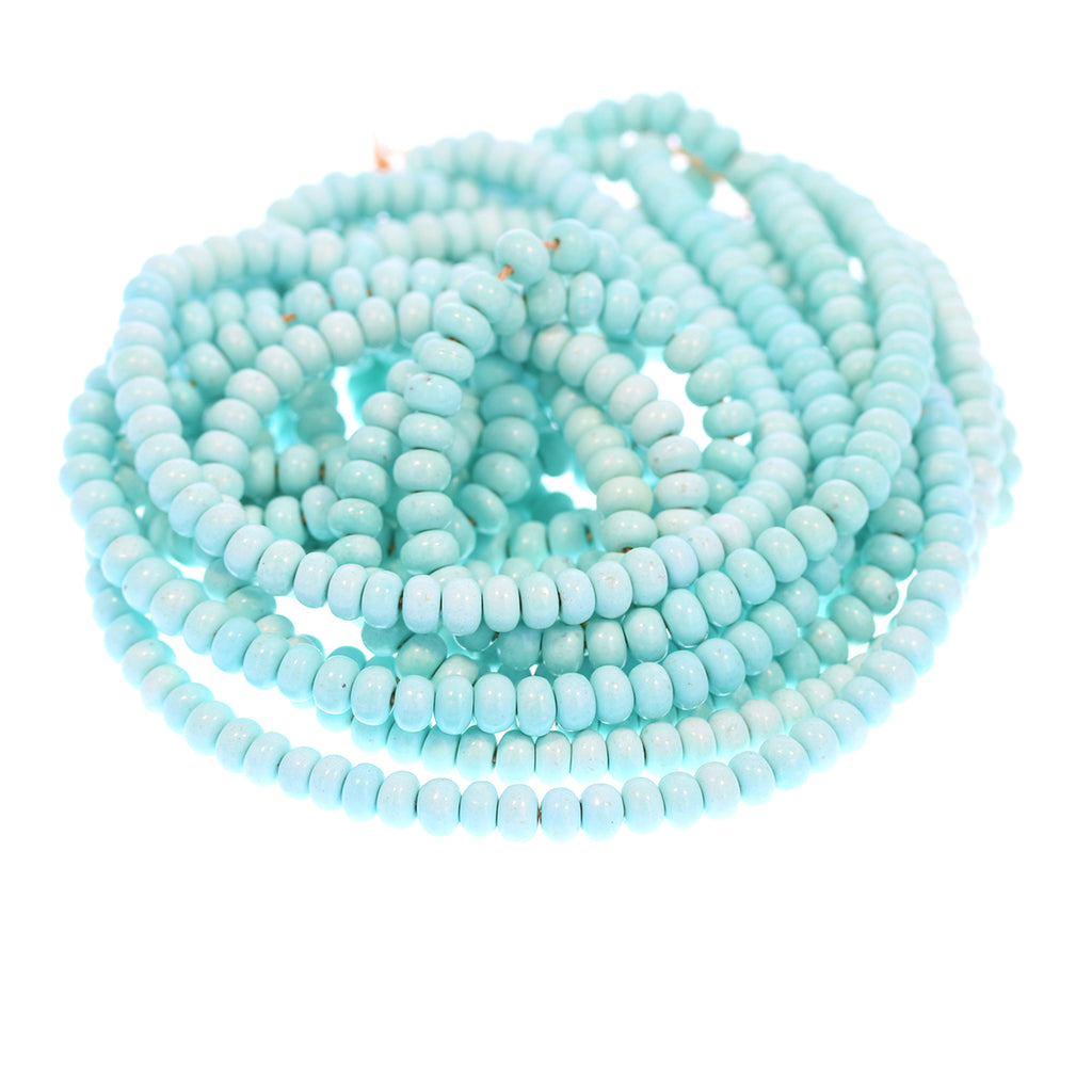 WHITE CREEK TURQUOISE Beads Rondelles 5mm Extremely Rare 18""