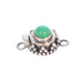 Green Chrysocolla Sterling Round Clasp 6mm