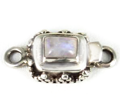 RAINBOW MOONSTONE CLASP CUSHION SHAPED GRANULATED - New World Gems