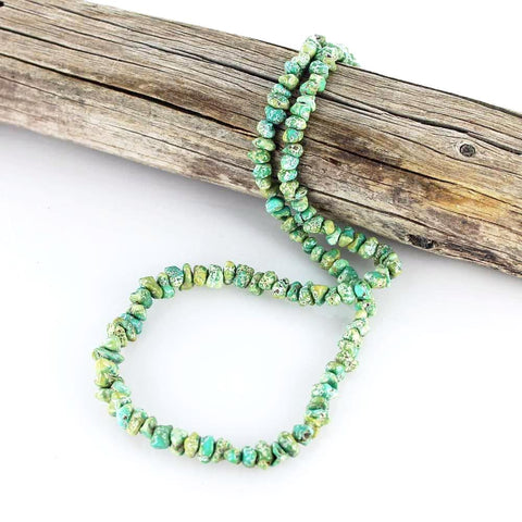 LONE MOUNTAIN TURQUOISE Beads Green Blue 5-9mm - New World Gems - 2