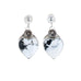 WHITE BUFFALO TURQUOISE Hearts Earrings Domed Post Sterling